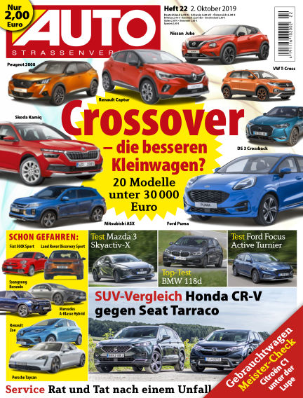 AUTOStraßenverkehr October 01, 2019 00:00