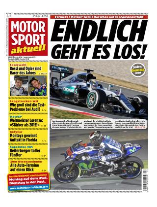 MOTORSPORT aktuell 13/2016