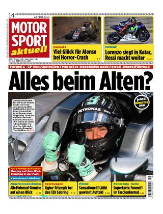 MOTORSPORT aktuell  14/2016