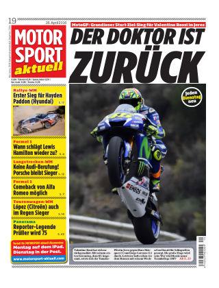 MOTORSPORT aktuell  19/2016
