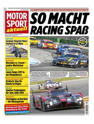 MOTORSPORT aktuell  21/2016