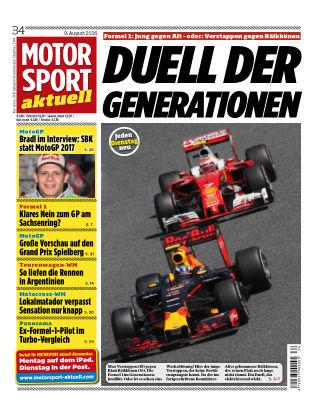 MOTORSPORT aktuell  34/2016