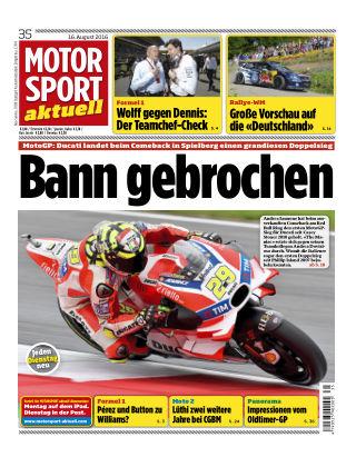 MOTORSPORT aktuell 35/2016