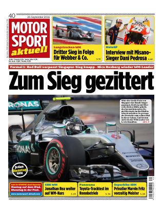 MOTORSPORT aktuell 40/2016