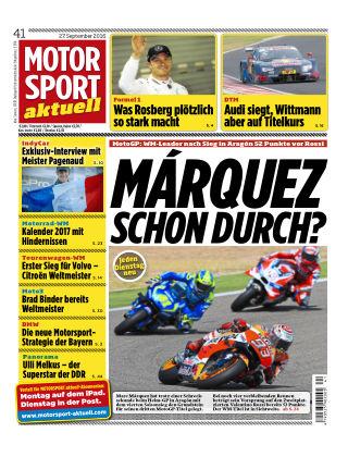 MOTORSPORT aktuell  41/2016