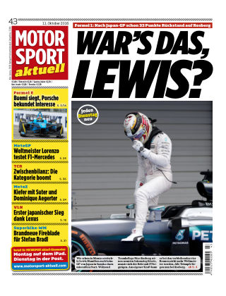 MOTORSPORT aktuell  43/2016