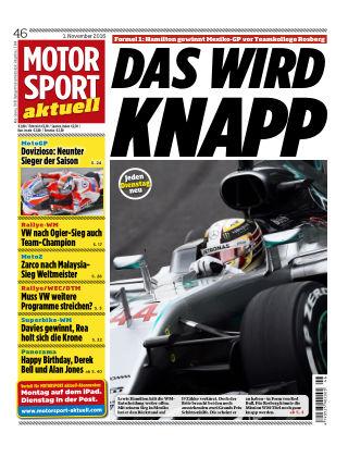 MOTORSPORT aktuell 46/2016