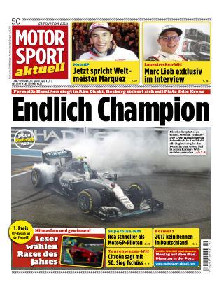 MOTORSPORT aktuell  50/2016