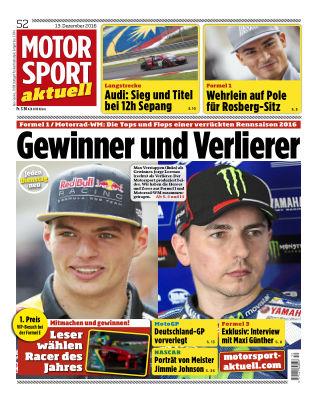 MOTORSPORT aktuell  52/2016