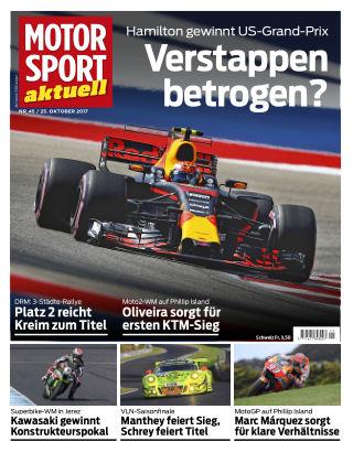 MOTORSPORT aktuell 45/2017