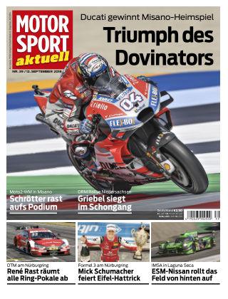 MOTORSPORT aktuell 39/2018