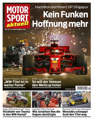MOTORSPORT aktuell  40/2018