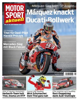 MOTORSPORT aktuell 41/2018