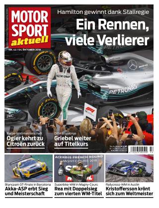 MOTORSPORT aktuell 42/2018