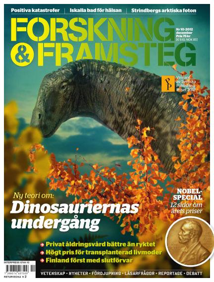 Forskning & Framsteg November 29, 2012 00:00