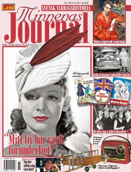 """Minnenas Journal (Titel sammanslagen med """"Svenska Öden & Äventyr"""") November 06, 2014 00:00"""