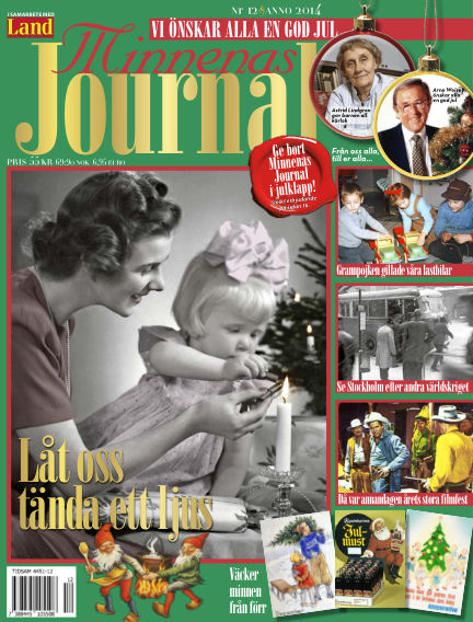 """Minnenas Journal (Titel sammanslagen med """"Svenska Öden & Äventyr"""") December 03, 2014 00:00"""