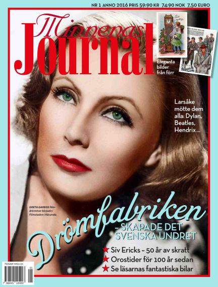 """Minnenas Journal (Titel sammanslagen med """"Svenska Öden & Äventyr"""") December 28, 2015 00:00"""