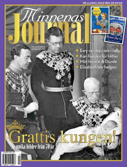 "Minnenas Journal (Titel sammanslagen med ""Svenska Öden & Äventyr"") April 05, 2016 00:00"
