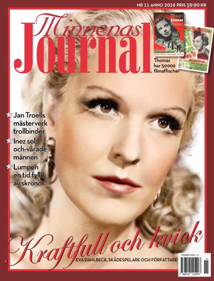 """Minnenas Journal (Titel sammanslagen med """"Svenska Öden & Äventyr"""") November 03, 2016 00:00"""