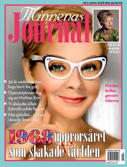 """Minnenas Journal (Titel sammanslagen med """"Svenska Öden & Äventyr"""") May 03, 2018 00:00"""