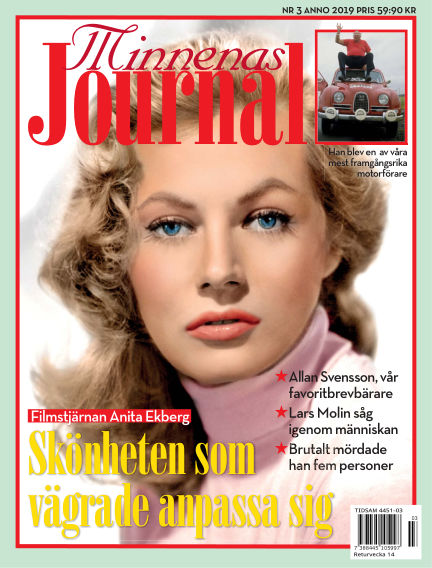 "Minnenas Journal (Titel sammanslagen med ""Svenska Öden & Äventyr"") February 28, 2019 00:00"