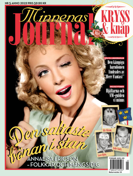 "Minnenas Journal (Titel sammanslagen med ""Svenska Öden & Äventyr"") May 02, 2019 00:00"