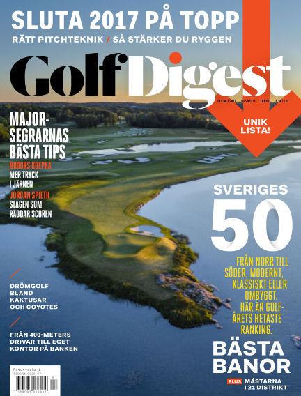 Golf Digest (Inga nya utgåvor) September 29, 2017 00:00
