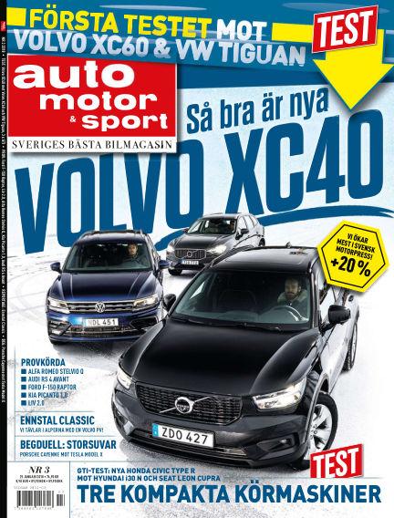 Auto Motor & Sport January 25, 2018 00:00