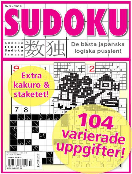 Sudoku Frossa March 22, 2018 00:00