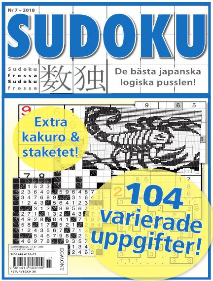 Sudoku Frossa August 16, 2018 00:00