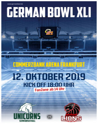 HUDDLE Spezial German Bowl 2019-10-09