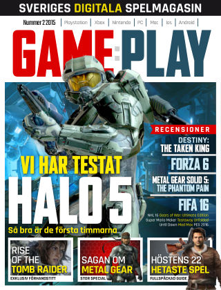 Gameplay (Inga nya utgåvor) 2015-10-02