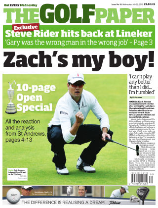 The Golf Paper  22nd July 2015
