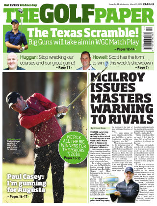 The Golf Paper  22nd March 2016