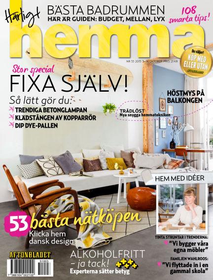 Härligt hemma October 03, 2015 00:00