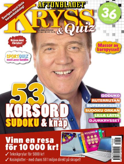 Kryss & Quiz (Inga nya utgåvor) April 06, 2015 00:00