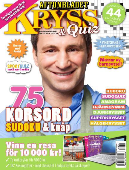 Kryss & Quiz (Inga nya utgåvor) June 29, 2015 00:00