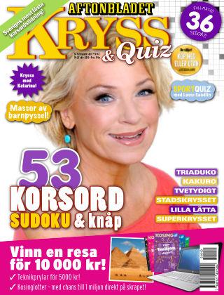 Kryss & Quiz (Inga nya utgåvor) 2015-10-19