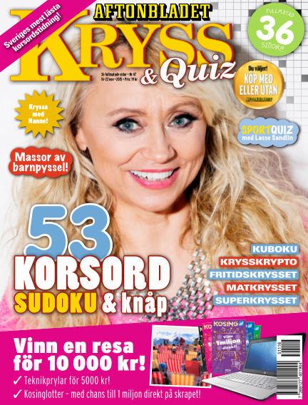 Kryss & Quiz (Inga nya utgåvor) November 16, 2015 00:00