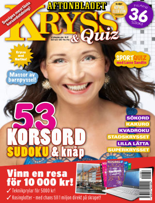 Kryss & Quiz (Inga nya utgåvor) 2015-11-30