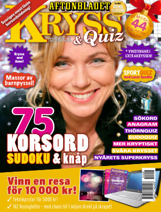 Kryss & Quiz (Inga nya utgåvor) 2015-12-28