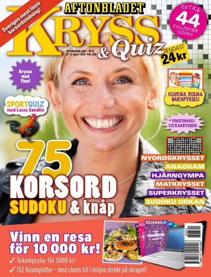 Kryss & Quiz (Inga nya utgåvor) March 21, 2016 00:00