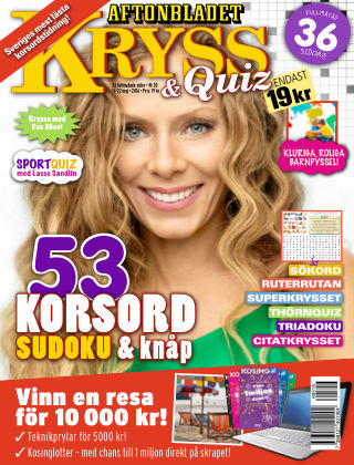 Kryss & Quiz (Inga nya utgåvor) 2016-05-16