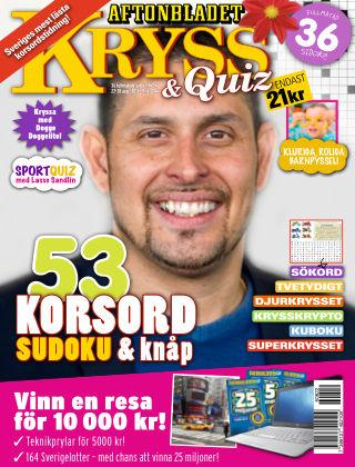 Kryss & Quiz (Inga nya utgåvor) 2016-08-22