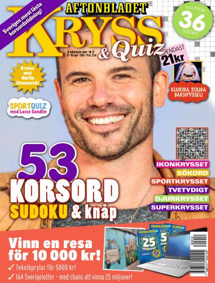 Kryss & Quiz (Inga nya utgåvor) September 12, 2016 00:00
