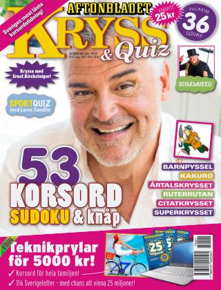 Kryss & Quiz (Inga nya utgåvor) 2017-08-21