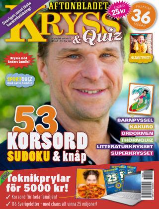 Kryss & Quiz (Inga nya utgåvor) 2017-08-28