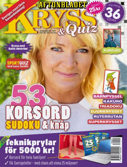 Kryss & Quiz (Inga nya utgåvor) September 25, 2017 00:00