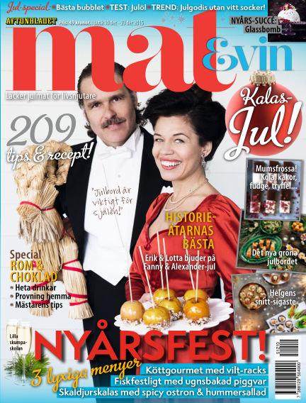 Mat & Vin (Inga nya utgåvor) December 10, 2015 00:00